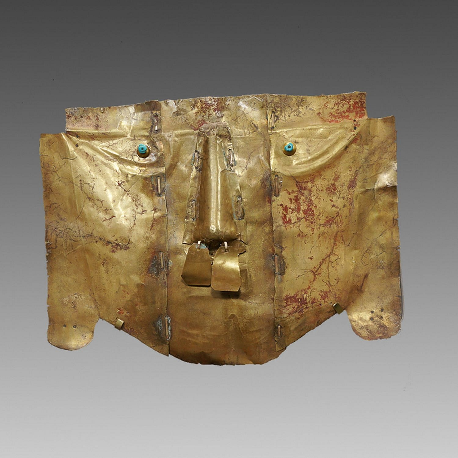 Peru, Sican Gold Mask of the Third Type Metal